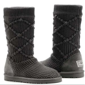 Ugg black knit sweater boots (8)